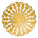 Golden plate. Royalty Free Stock Photography