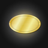 Golden plate Stock Photos