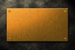 Golden plate Stock Photo