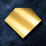 Golden plate stock images