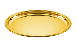 Golden plate Royalty Free Stock Image