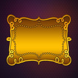 Golden plate on purple background Stock Image
