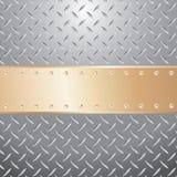 Golden plate screws Royalty Free Stock Photos