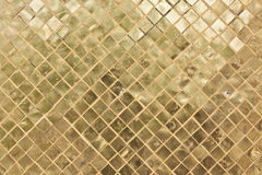 Golden plate square. Used to decorate religious buildings in Thailand Royalty Free Stock Photography