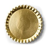 Golden plate or tray isolated over white background