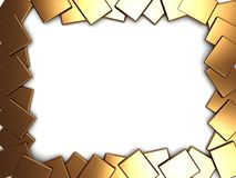 Golden plates frame Stock Image