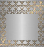 Golden with platinum. Abstract vintage Royalty Free Stock Photo