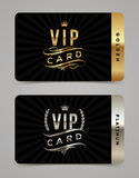 Golden and platinum VIP card template vector illustration