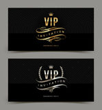 Golden and platinum VIP invitation template stock illustration