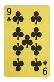 Golden playing cards, Nice of clubs Stock Photography