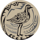 Golden Plover Standing Circle Tribal Art Stock Photos