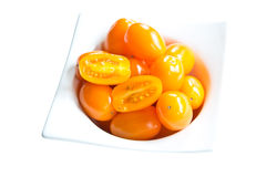 Golden Plum Tomatoes Stock Image