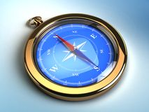 Golden pocket compasses Stock Image