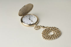 Golden pocket watch Royalty Free Stock Photos