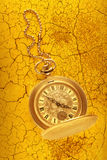Golden pocket watch with chain Royalty Free Stock Image