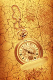 Golden pocket watch with chain Stock Images