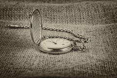 Golden pocket watch Royalty Free Stock Photography