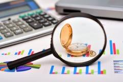 Golden pocket watch Stock Photos