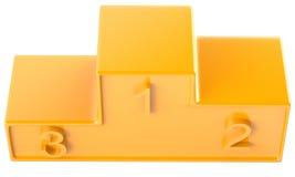 Golden podium Stock Images