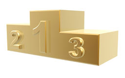 Golden podium Royalty Free Stock Photography