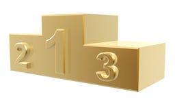 Golden podium Royalty Free Stock Photography