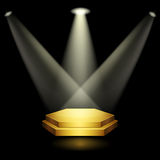 Golden podium Royalty Free Stock Photo