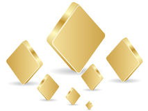 Golden poker element - rhombus Stock Images