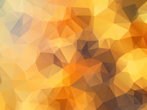 Golden polygon abstract background Royalty Free Stock Photography
