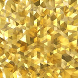 Golden polygon wall Stock Photo