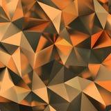 Golden polygonal background. 3d golden polygonal background. 3d image stock illustration