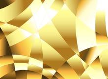 Golden polygonal background Stock Photography