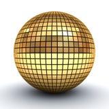 Golden polygonal sphere Royalty Free Stock Photos