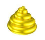 Golden poop shiny shit illusion Stock Image