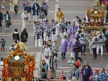 Golden portable shrine or Mikoshi Royalty Free Stock Photo