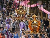 Golden portable shrine or Mikoshi Stock Images
