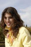 Golden Portrait Yellow Coat Royalty Free Stock Image
