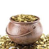 Golden pot Royalty Free Stock Photo