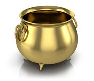 Golden pot Royalty Free Stock Photo