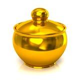Golden pot Royalty Free Stock Image