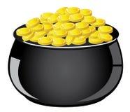 Golden Pot Stock Photography