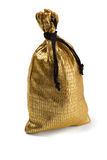Golden pouch Stock Images