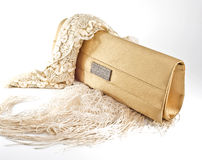 Golden Pouch Royalty Free Stock Photo