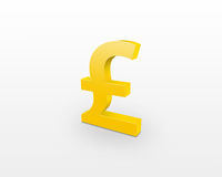 Golden pound sign Royalty Free Stock Images