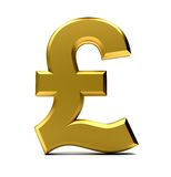 Golden pound symbol Stock Photos