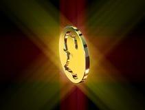 Golden pound symbol Royalty Free Stock Photography