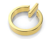 Golden power symbol Stock Photography