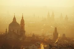 Golden Prague Stock Image