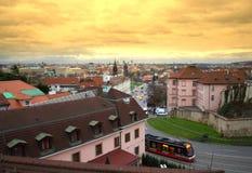 Golden Prague Stock Photography