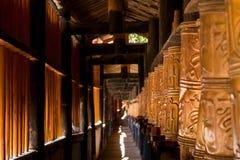 Golden prayer. Old golden tibetean prayer wheels Royalty Free Stock Images