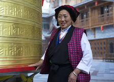Golden Prayer Wheel Prayer Royalty Free Stock Image